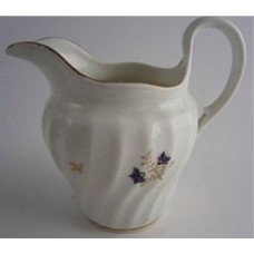 Flight and Barr period Worcester Circular Shanked Milk Jug, Blue and Gilt  Decoration with the 'Cornflower' sprig pattern, c1790