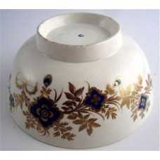 Worcester Slops Bowl, Blue and Gilt floral decoration, c1775