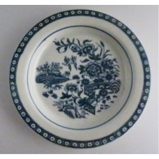 Caughley small sized plate, beautifully decorated with the transfer printed blue and white 'Fence' Pattern, c1785