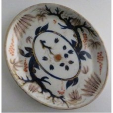 New Hall Oval Teapot Stand, 'Imari' decoration pattern number 446, c1795-1810