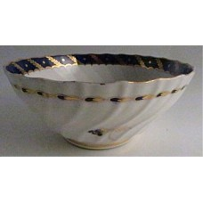 Worcester Circular Shanked Slops Bowl, Blue and Gilt Decoration with 'Bluebell pattern', c1795