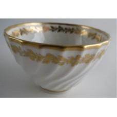 Coalport Spiral Shanked Tea Bowl, Gilded Leaf Garland Decoration, c1800